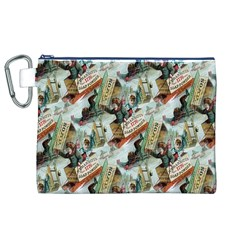 Clear The Track Canvas Cosmetic Bag (XL)