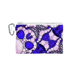 Skull Bling  Canvas Cosmetic Bag (Small)