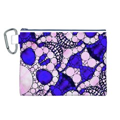 Skull Bling  Canvas Cosmetic Bag (Large)