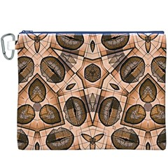 Chocolate Kisses Canvas Cosmetic Bag (xxxl)