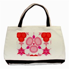 Strawberry Shortcakee Twin Sided Black Tote Bag