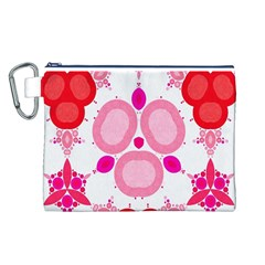 Strawberry Shortcakee Canvas Cosmetic Bag (large)