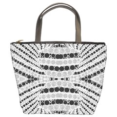 Insane Black&white Textured  Bucket Handbag