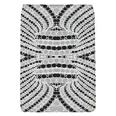 Insane Black&white Textured  Removable Flap Cover (small)