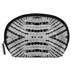 Insane Black&white Textured  Accessory Pouch (Large)