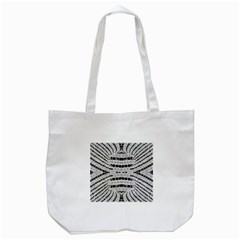 Insane Black&white Textured  Tote Bag (White)