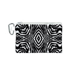 Zebra Twists  Canvas Cosmetic Bag (Small)