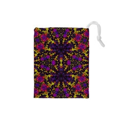 Color Bursts  Drawstring Pouch (small)