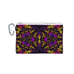 Color Bursts  Canvas Cosmetic Bag (Small)
