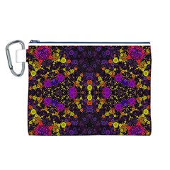 Color Bursts  Canvas Cosmetic Bag (Large)