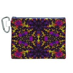 Color Bursts  Canvas Cosmetic Bag (XL)