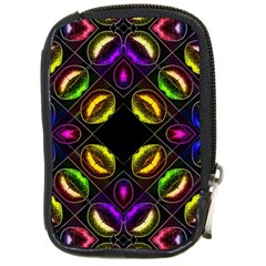Sassy Neon Lips  Compact Camera Leather Case