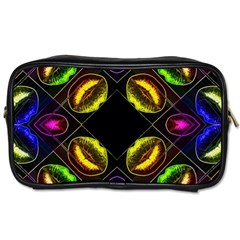 Sassy Neon Lips  Travel Toiletry Bag (two Sides)