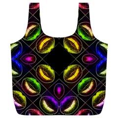 Sassy Neon Lips  Reusable Bag (xl)