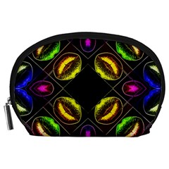 Sassy Neon Lips  Accessory Pouch (Large)