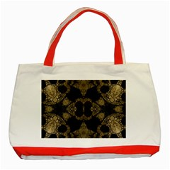 Golden Skulls  Classic Tote Bag (Red)