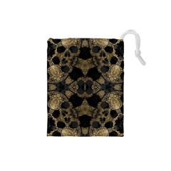 Golden Skulls  Drawstring Pouch (Small)