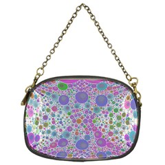 Pink Purple Abstract  Chain Purse (one Side)
