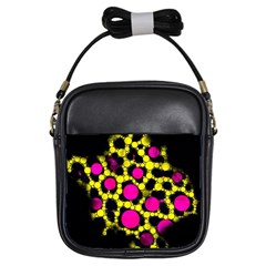 Ripped Grunge Cheetah Girl s Sling Bag