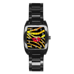 Mouthy Zebra  Stainless Steel Barrel Watch