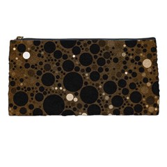 Brown Cream Abstract  Pencil Case