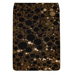 Brown Cream Abstract  Removable Flap Cover (small)