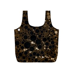 Brown Cream Abstract  Reusable Bag (S)