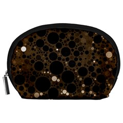 Brown Cream Abstract  Accessory Pouch (large)