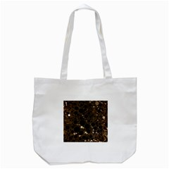 Brown Cream Abstract  Tote Bag (white)