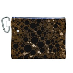 Brown Cream Abstract  Canvas Cosmetic Bag (xl)