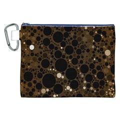 Brown Cream Abstract  Canvas Cosmetic Bag (XXL)