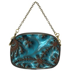 Glossy Turquoise  Chain Purse (two Sided)