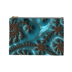 Glossy Turquoise  Cosmetic Bag (large)