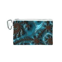 Glossy Turquoise  Canvas Cosmetic Bag (Small)