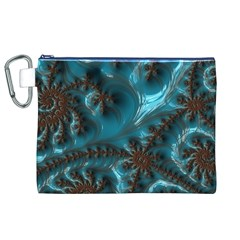 Glossy Turquoise  Canvas Cosmetic Bag (XL)