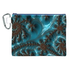 Glossy Turquoise  Canvas Cosmetic Bag (xxl)