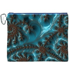 Glossy Turquoise  Canvas Cosmetic Bag (XXXL)