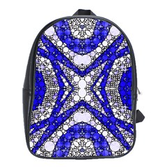 Flashy Bling Blue Silver  School Bag (xl)