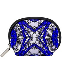 Flashy bling Blue Silver  Accessory Pouch (Small)