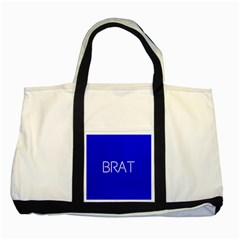 Brat Blue Two Toned Tote Bag