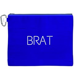 Brat Blue Canvas Cosmetic Bag (XXXL)