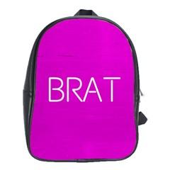 Brat Pink School Bag (xl)