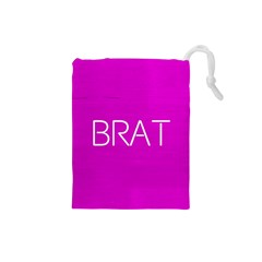 Brat Pink Drawstring Pouch (small)