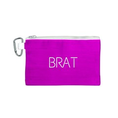 Brat Pink Canvas Cosmetic Bag (Small)