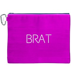 Brat Pink Canvas Cosmetic Bag (XXXL)