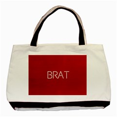 Brat Red Twin-sided Black Tote Bag