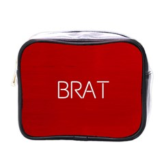 Brat Red Mini Travel Toiletry Bag (one Side)