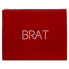 Brat Red Cosmetic Bag (xxxl)