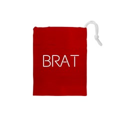 Brat Red Drawstring Pouch (Small)