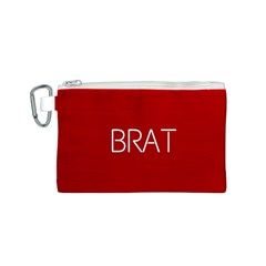Brat Red Canvas Cosmetic Bag (Small)